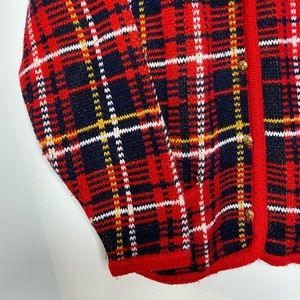 Sweaters - Vintage Checked Cartigan